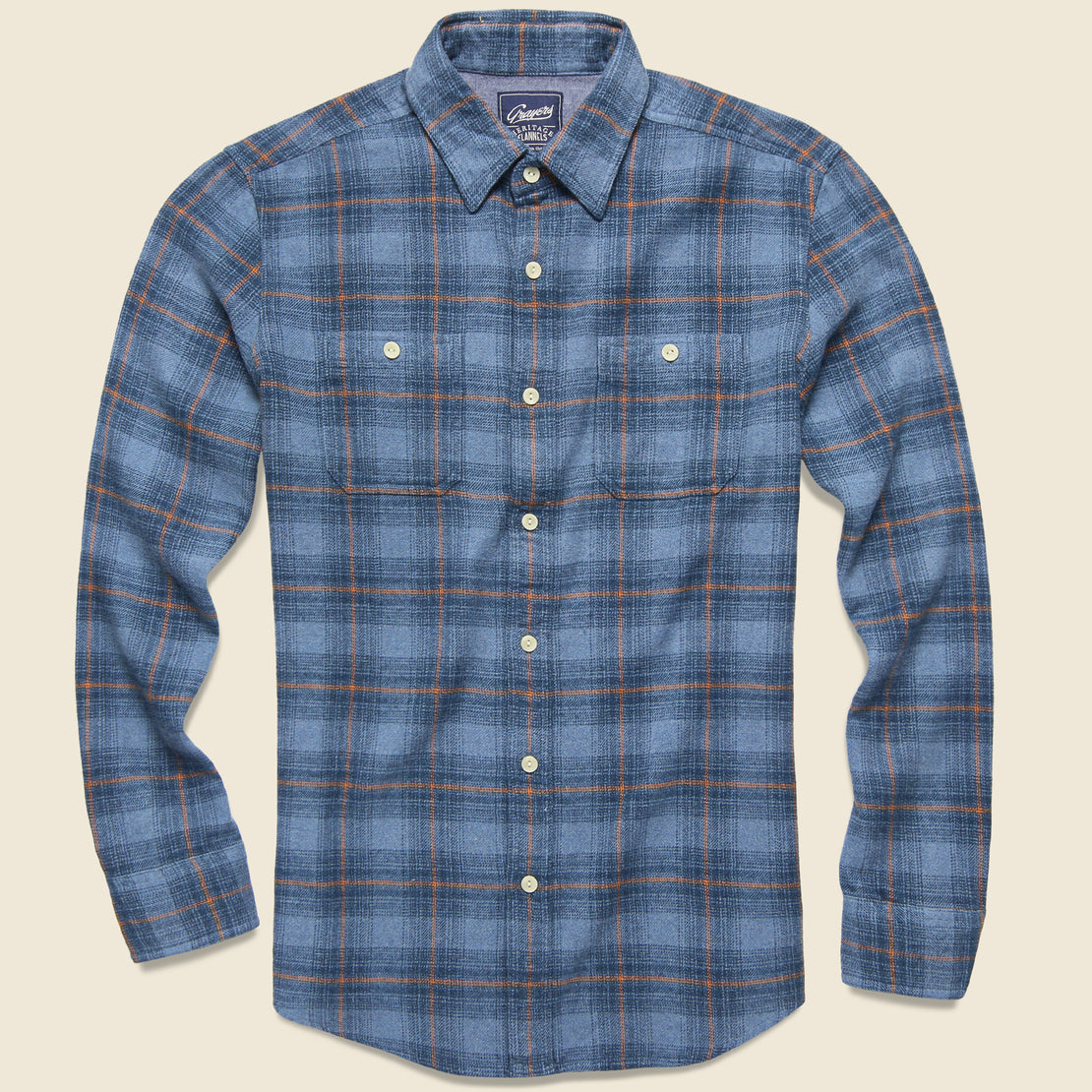 Grayers Nevill Heritage Flannel - Blue/Orange Plaid