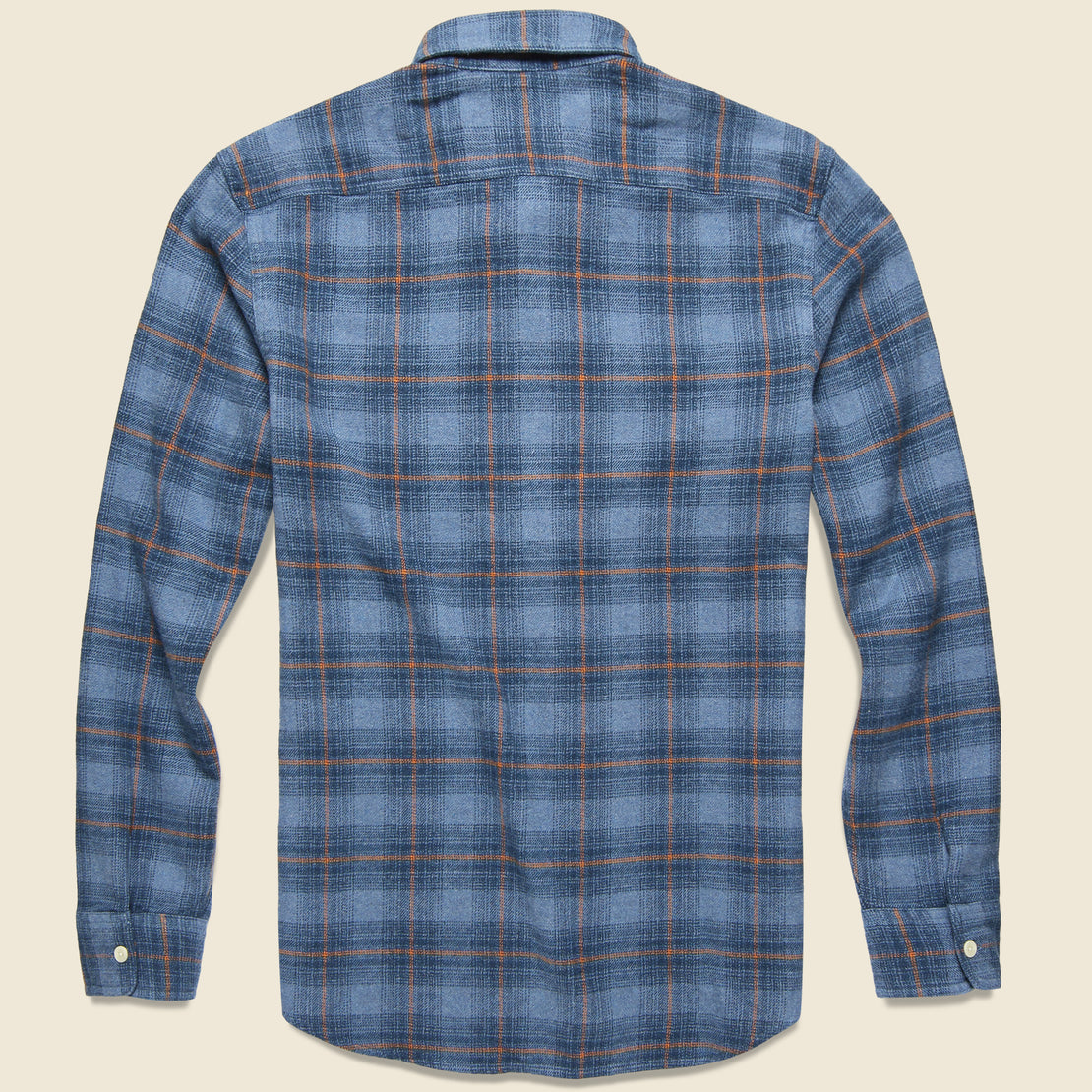 Nevill Heritage Flannel - Blue/Orange Plaid
