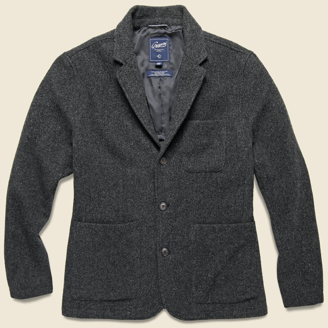 Grayers Hutton Wool Twill Sport Coat - Charcoal