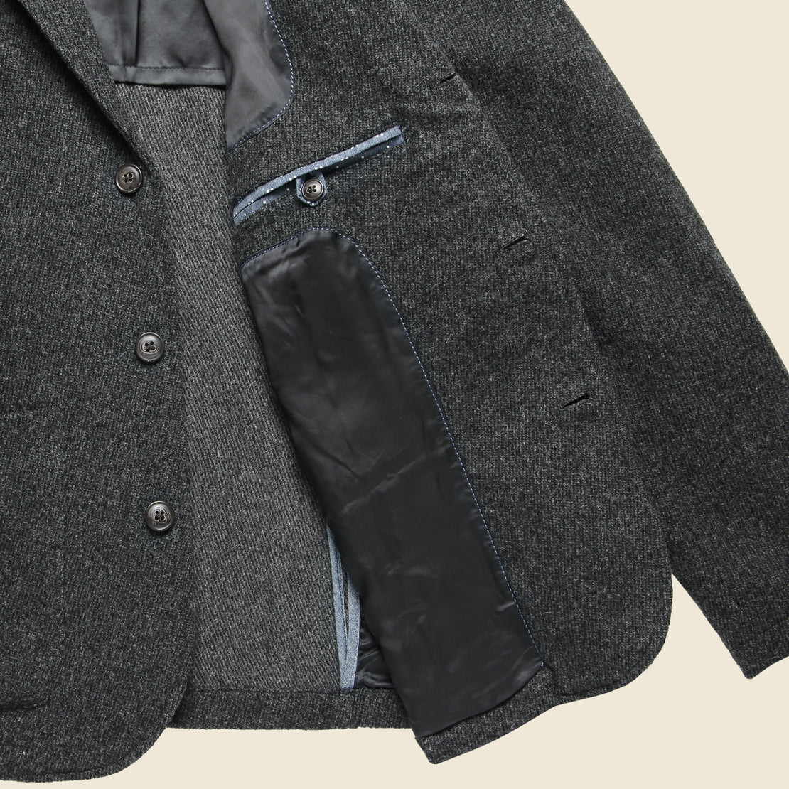Hutton Wool Twill Sport Coat - Charcoal