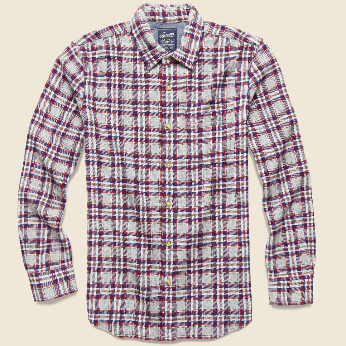 Grayers Milbank Heritage Flannel Shirt - Gray/Red
