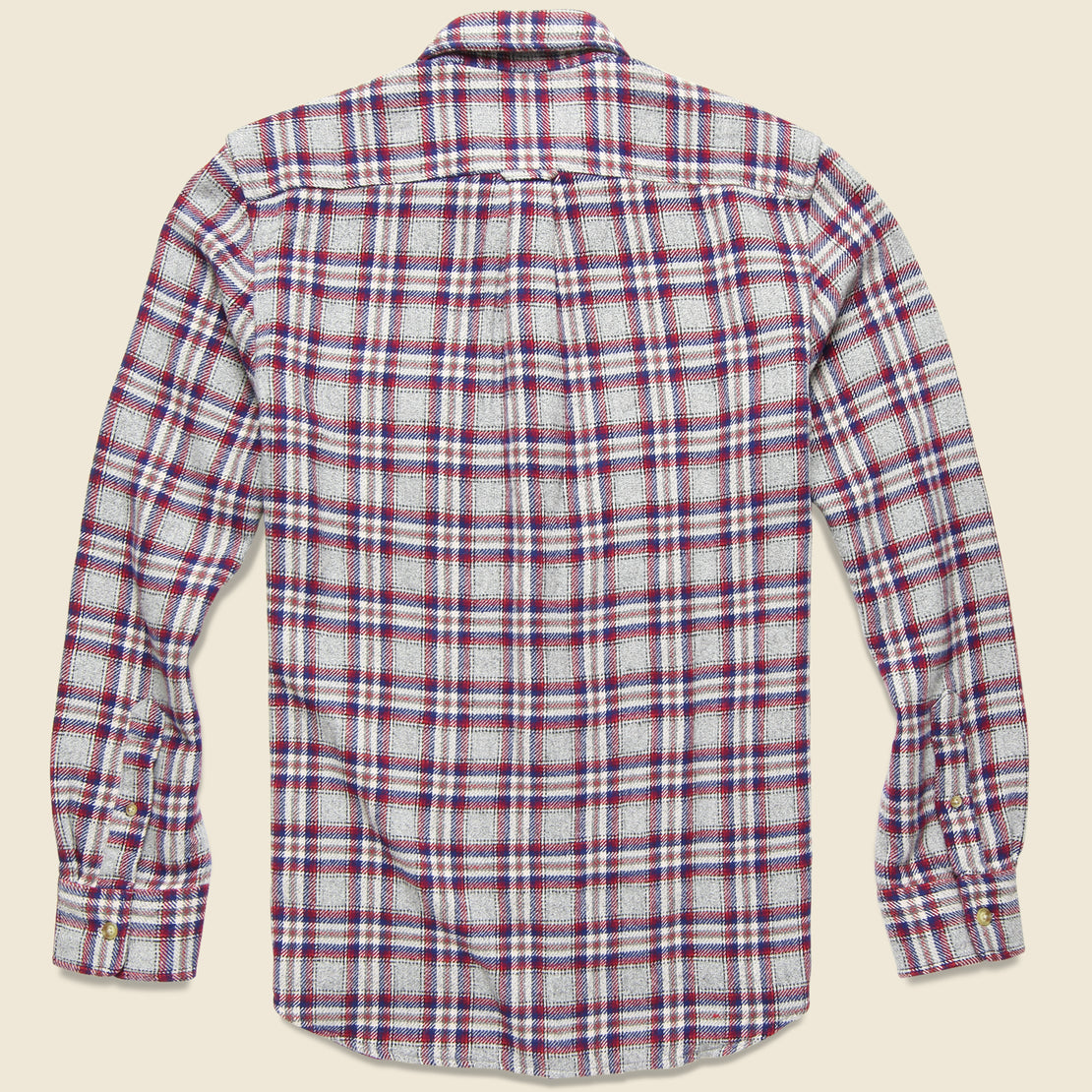 Milbank Heritage Flannel Shirt - Gray/Red