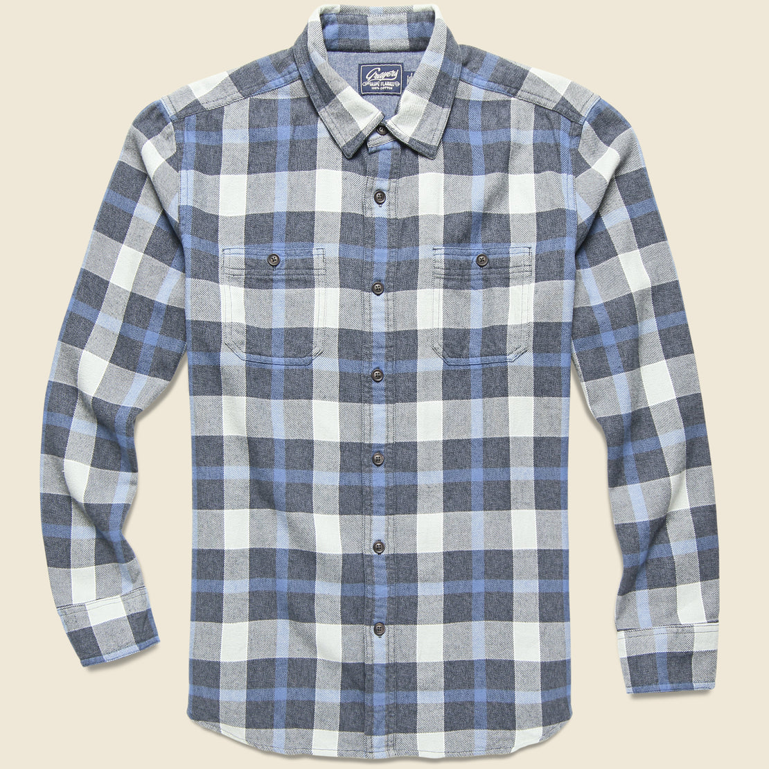 Grayers Keats 3-Ply Jaspe Shirt - Blue Plaid