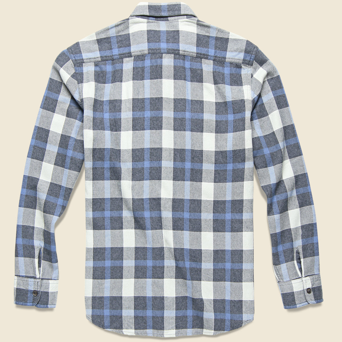 Keats 3-Ply Jaspe Shirt - Blue Plaid