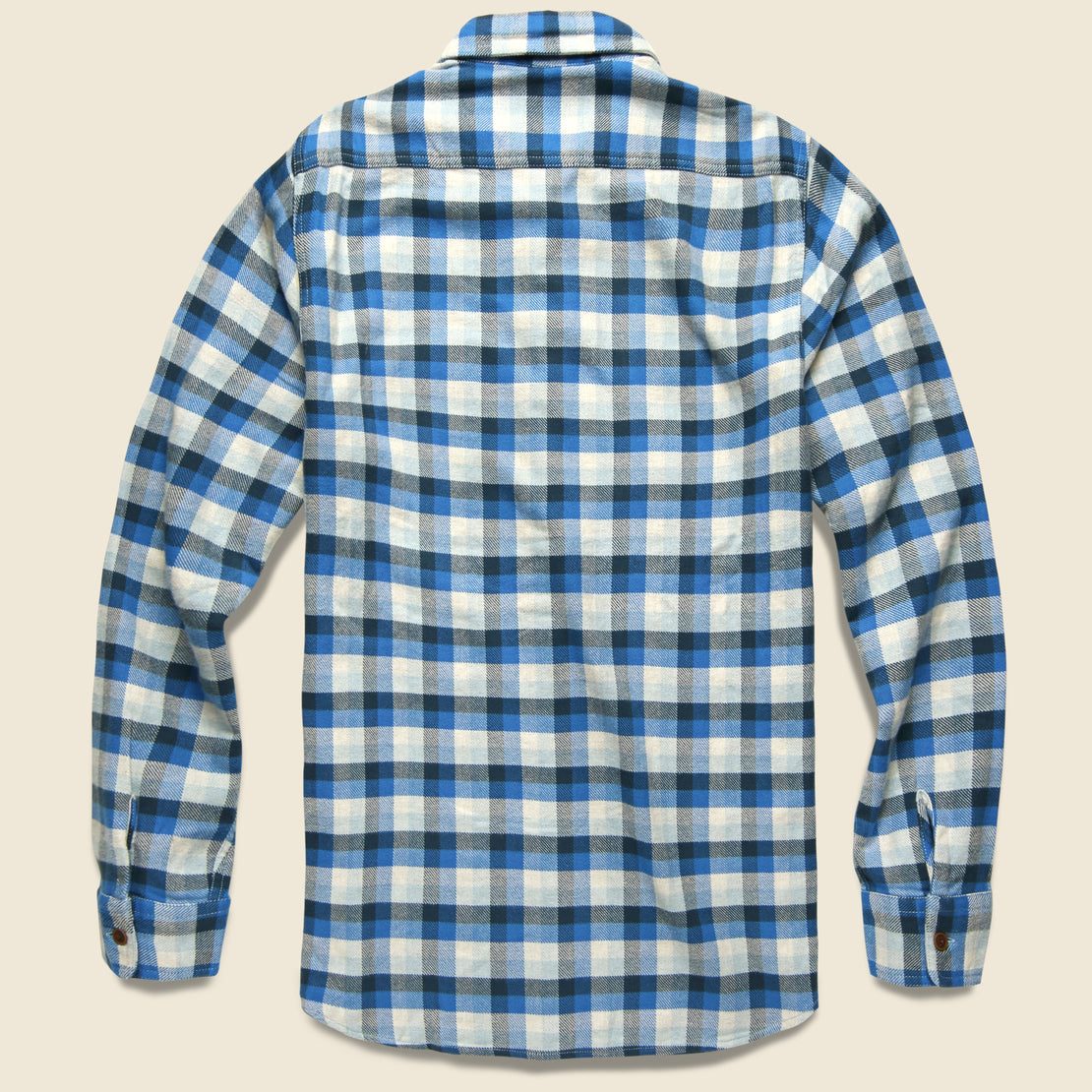 Gingham Heritage Flannel - Navy/Blue/Grey