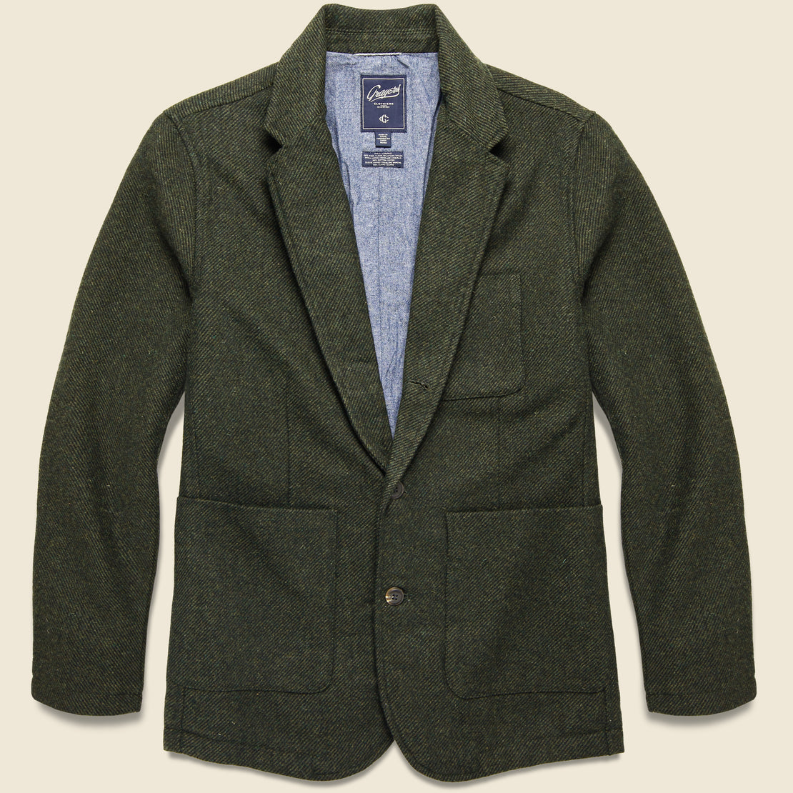Grayers Hutton Wool Sport Coat - Loden