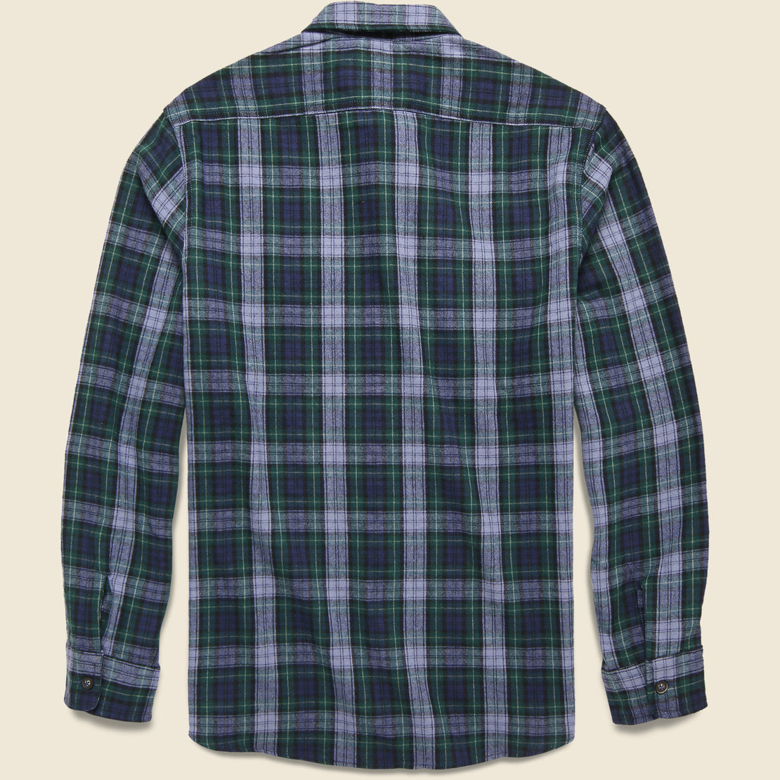 Rexford Mid-weight Plaid Shirt - Green/Blue