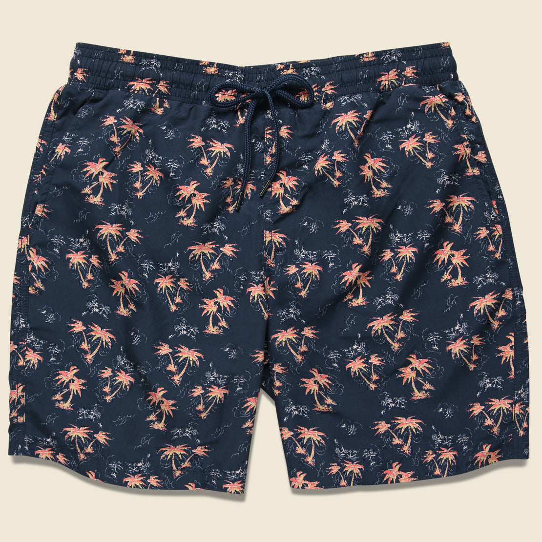 Grayers Burning Palm Swim Trunk - Carbon Spice Coral