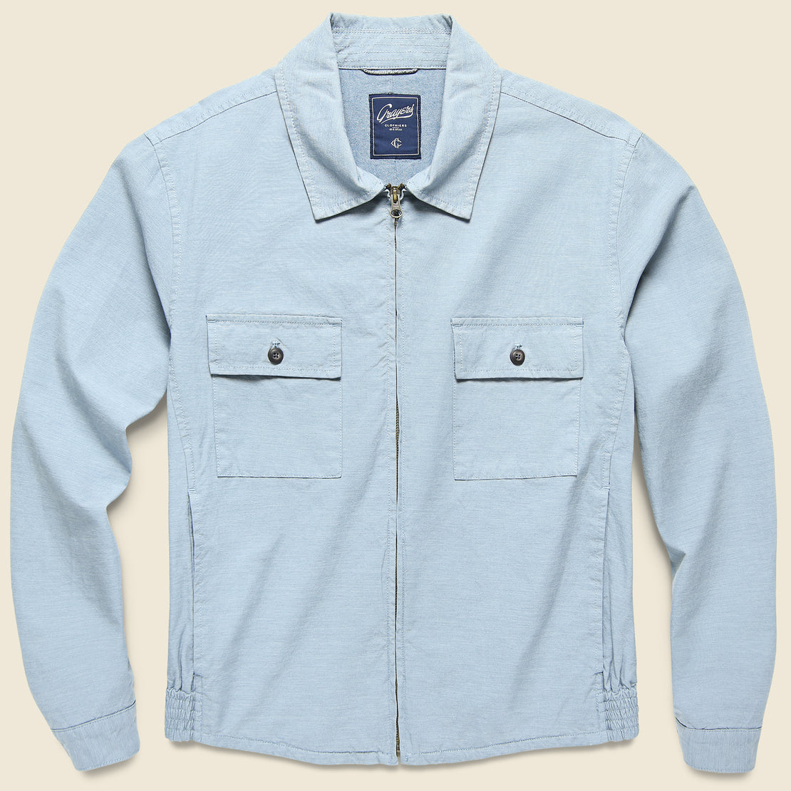 Grayers Randolph Windbreaker Jacket - China Blue