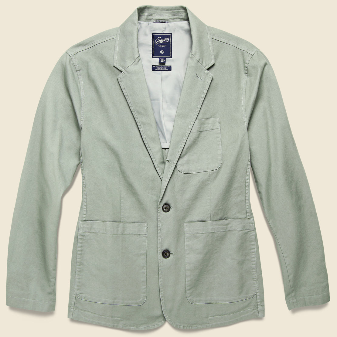 Grayers Newport 3 Button Blazer - Dusty Olive
