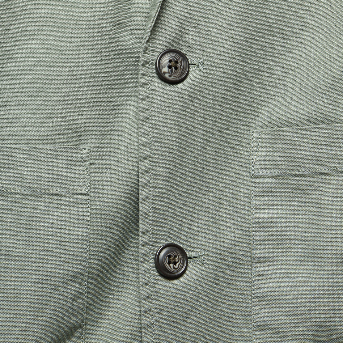 Newport 3 Button Blazer - Dusty Olive