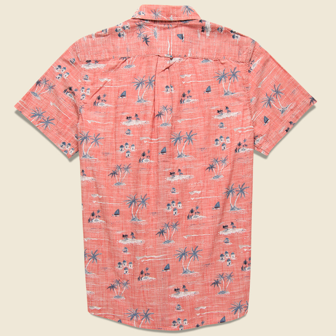 Giligans Printed Chambray Shirt - Dusty Cedar