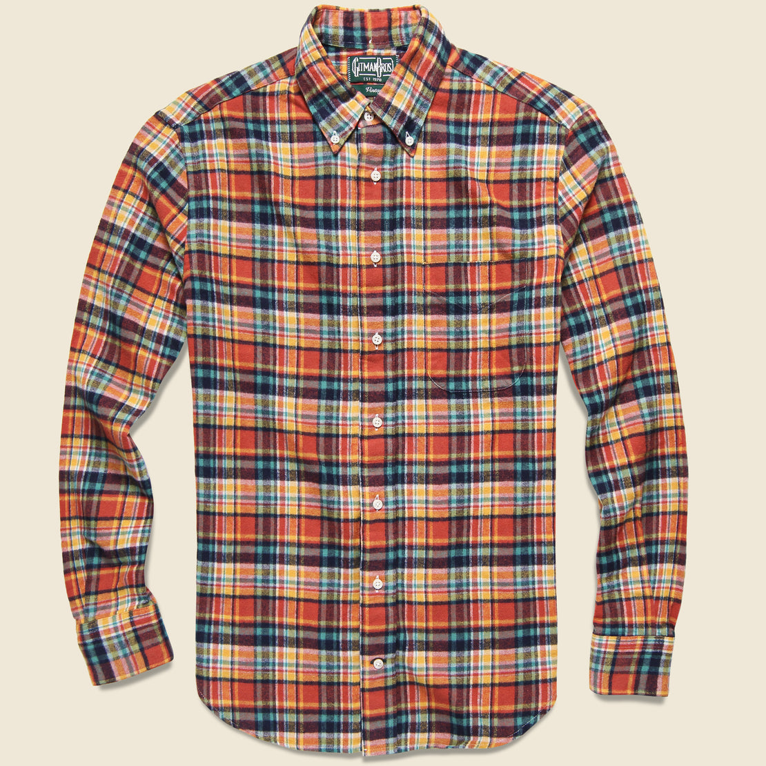 Gitman Vintage Plaid Flannel - Burnt Orange