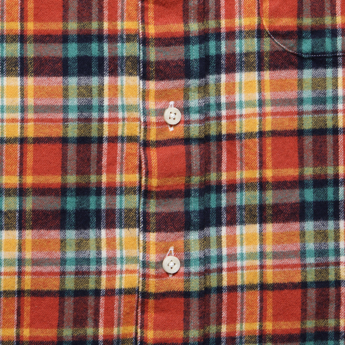 Plaid Flannel - Burnt Orange