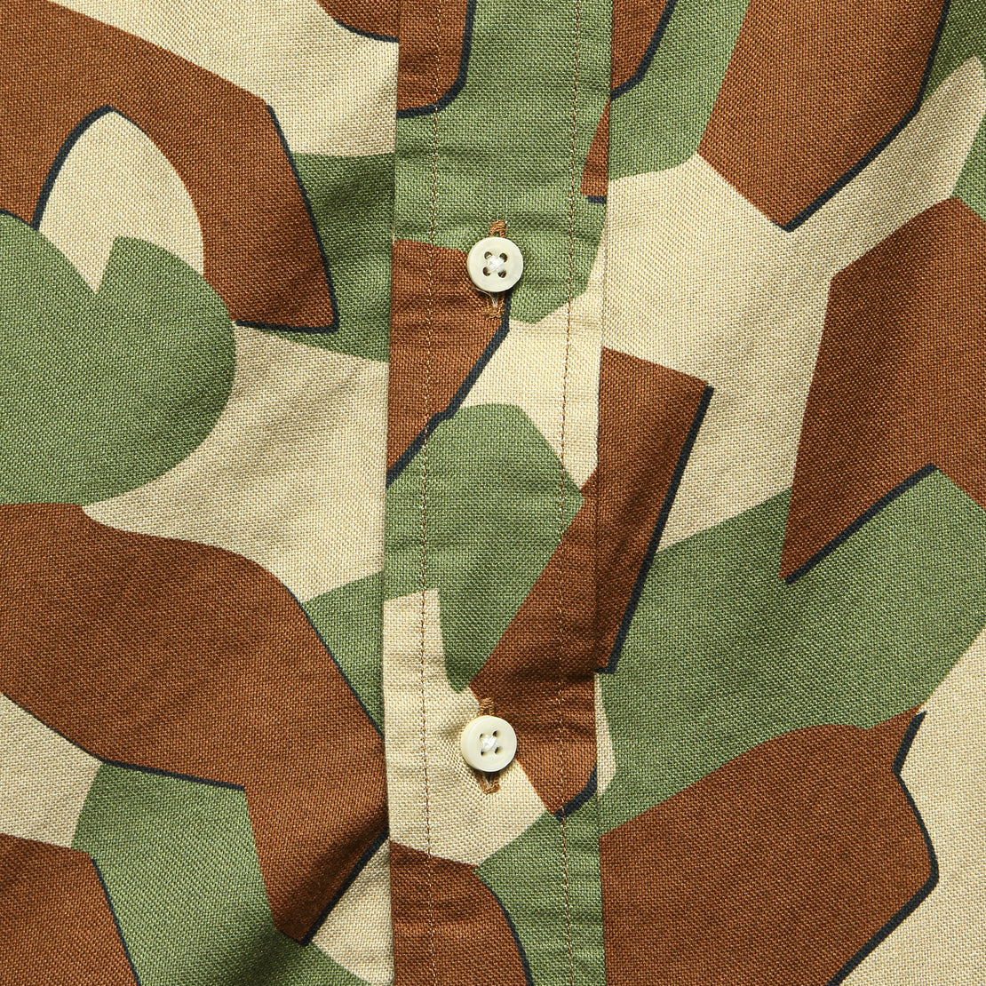 Oxford Shirt - Peruvian Geometric Camo