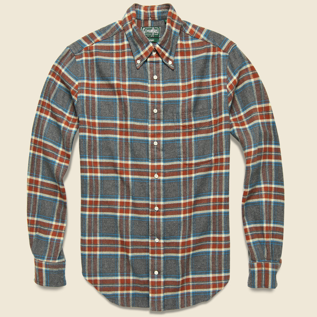 Gitman Vintage Soft Flannel - Red/Blue