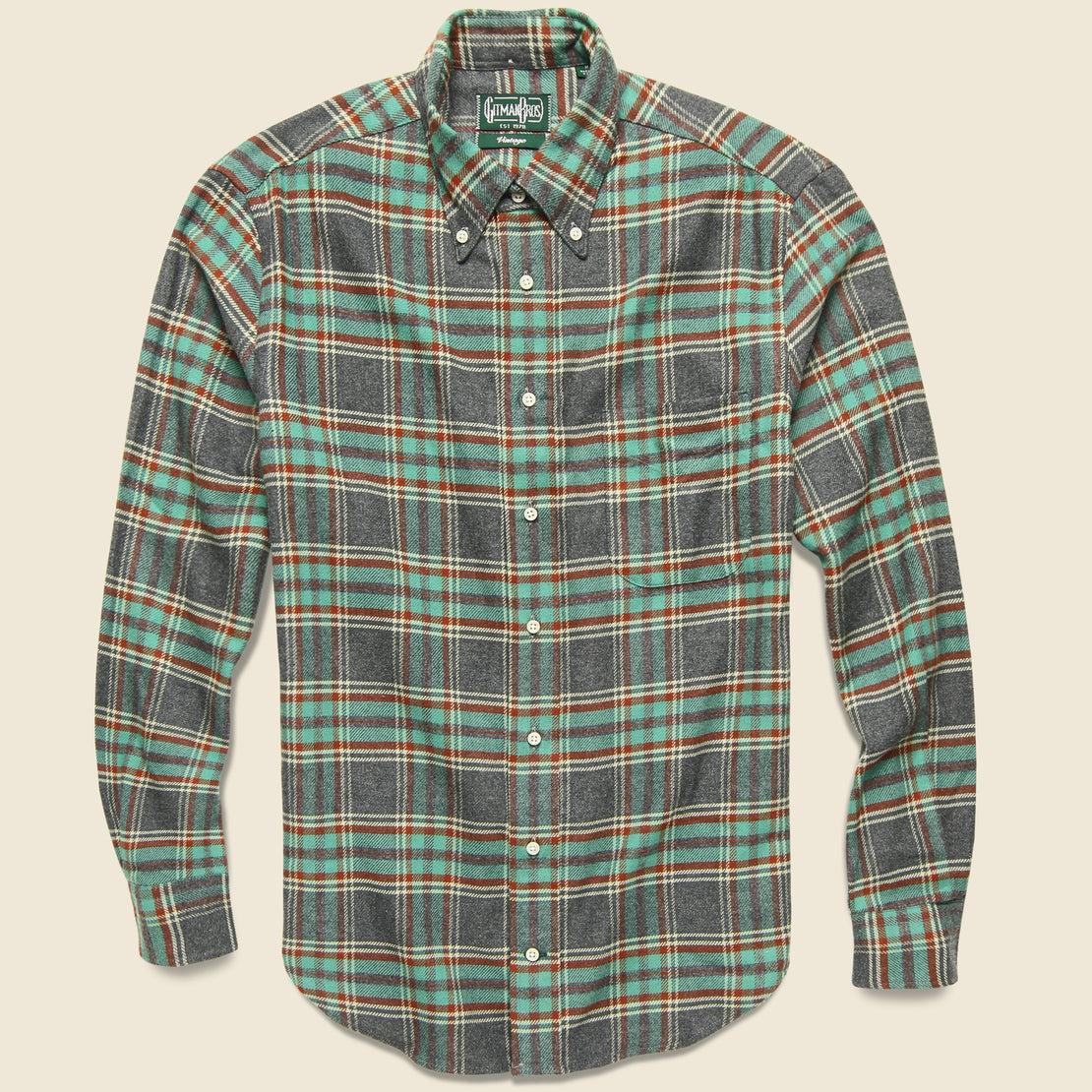 Gitman Vintage Soft Flannel - Teal/Blue