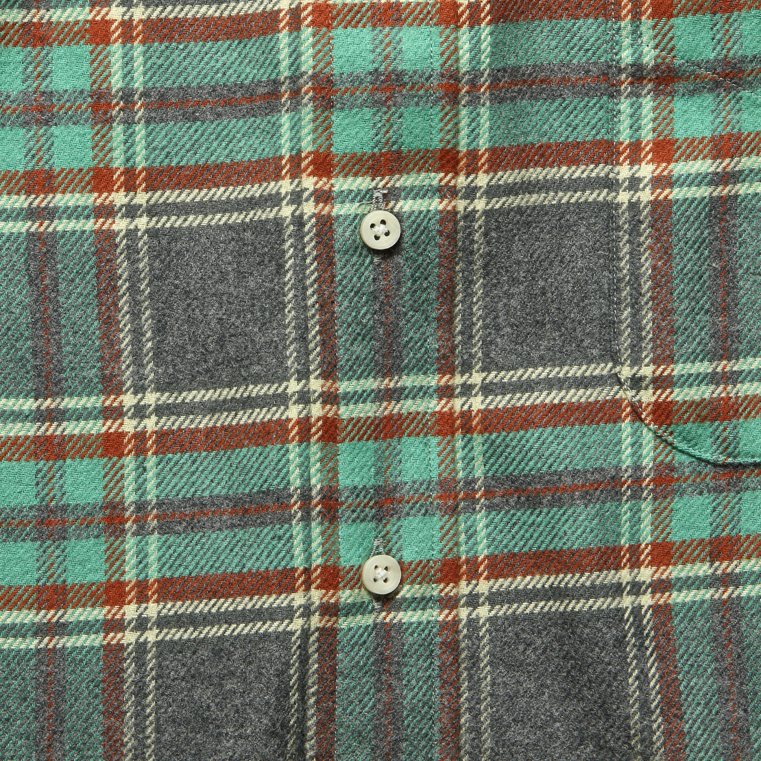 Soft Flannel - Teal/Blue
