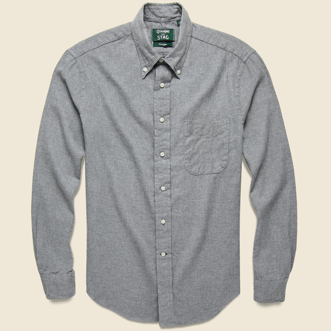 Gitman Vintage Deep in the Heart Embroidered Shirt - Grey