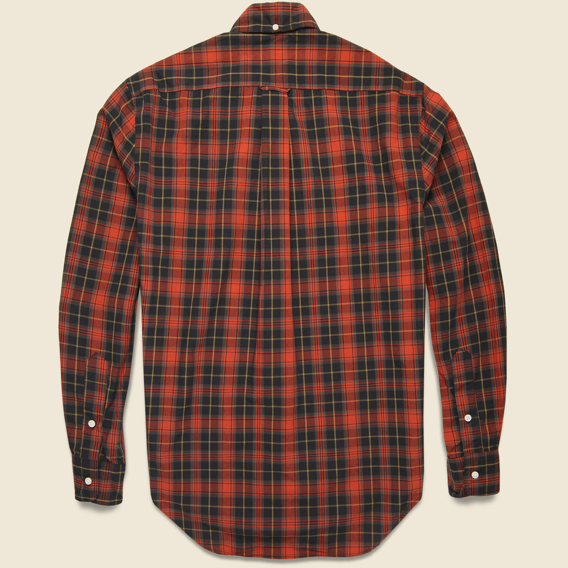 Beefy Poplin Shirt - Black/Red