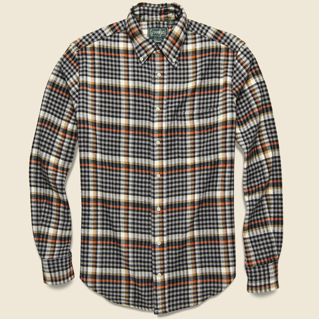 Gitman Vintage Country Plaid Flannel - Grey
