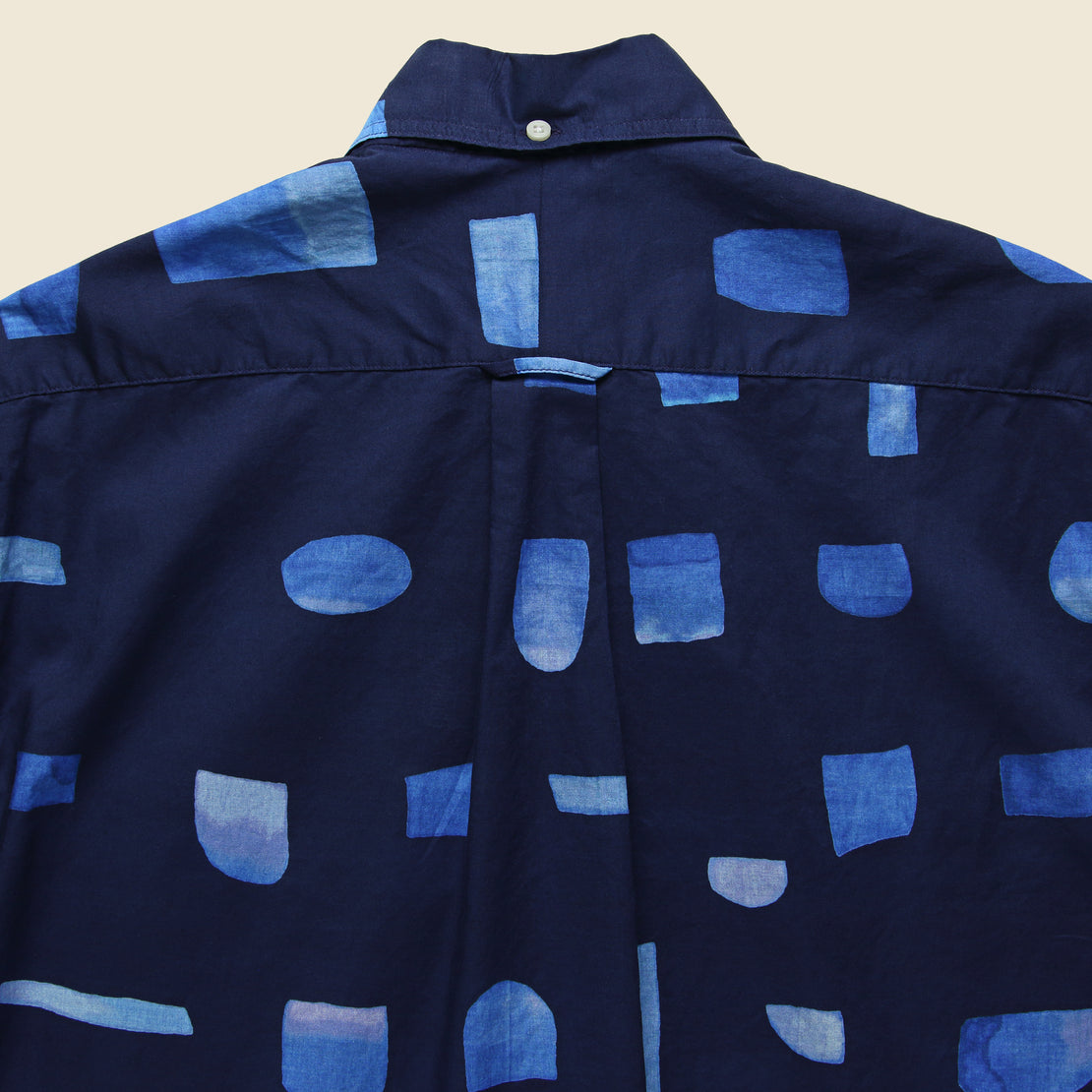 Abstract Blues Shirt - Navy/Blue