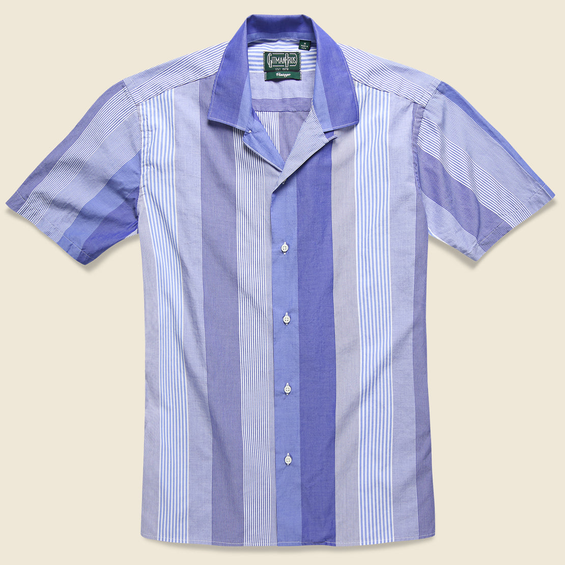 Gitman Vintage Stripe Shirt - Blue/White