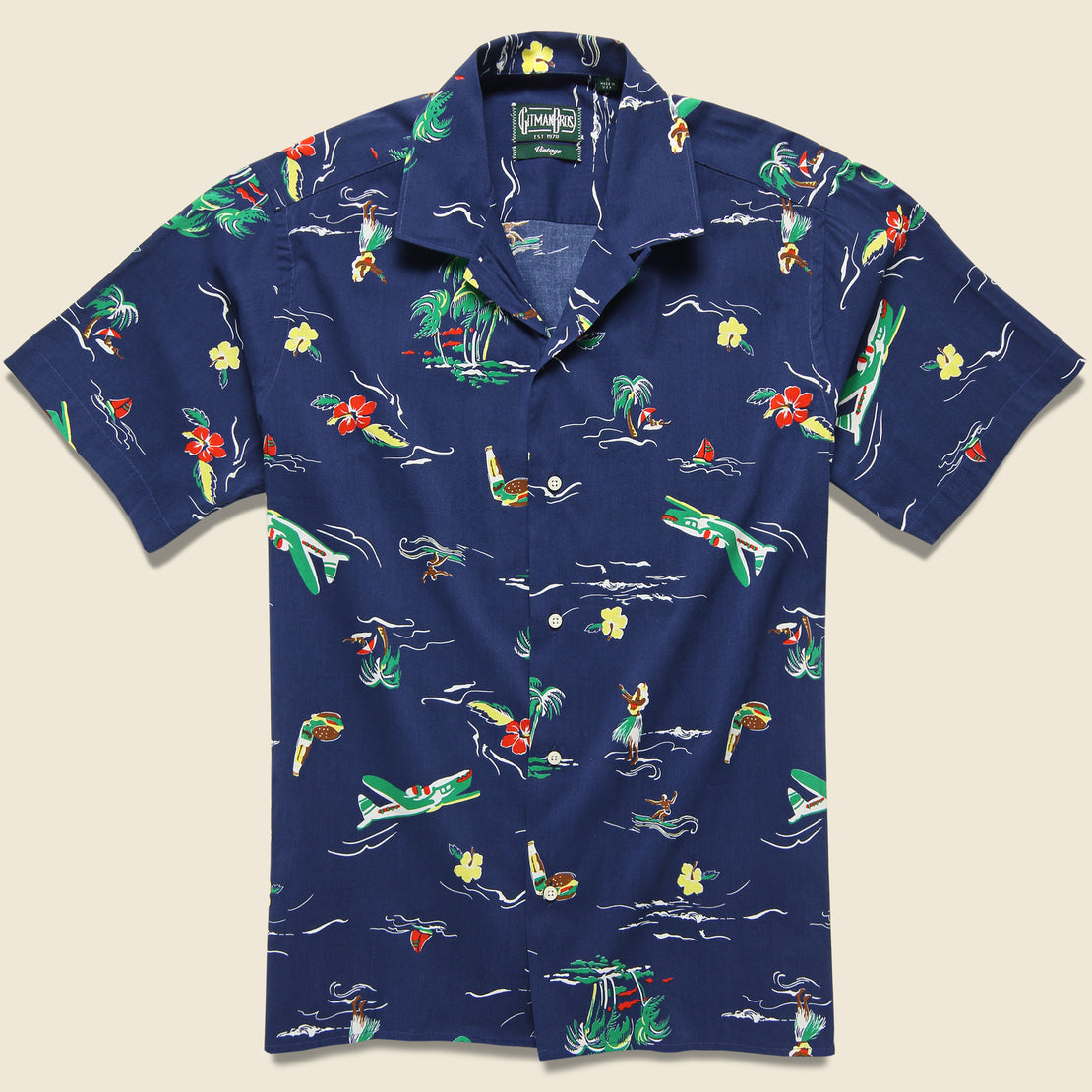 Gitman Vintage Surf & Turf Shirt - Navy