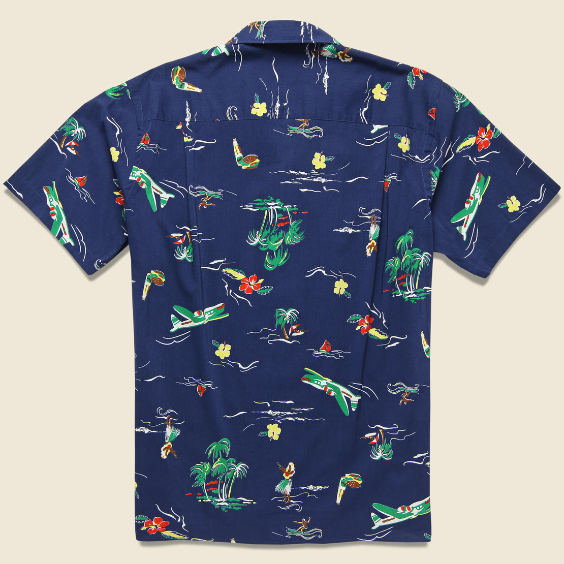 Surf & Turf Shirt - Navy