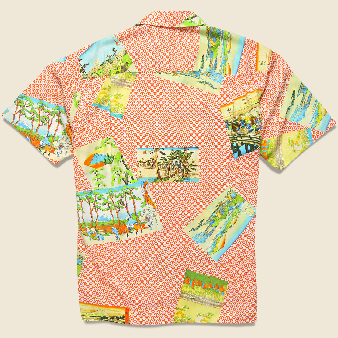 Hokusai Shirt - Orange