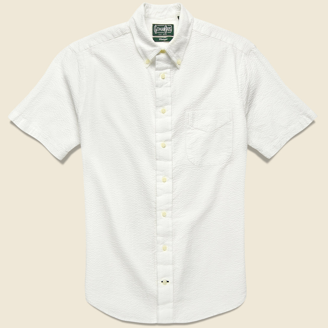 Gitman Vintage Seersucker Shirt - White