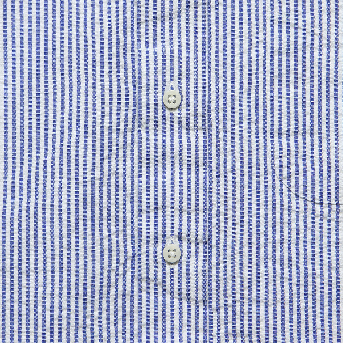 Seersucker Shirt - Blue/White Stripe