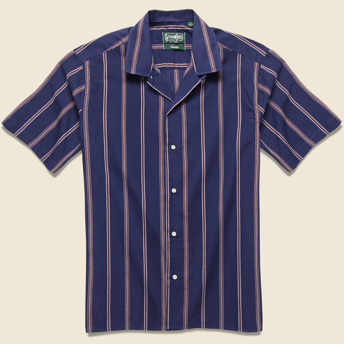 Gitman Vintage Stripe Shirt - Navy