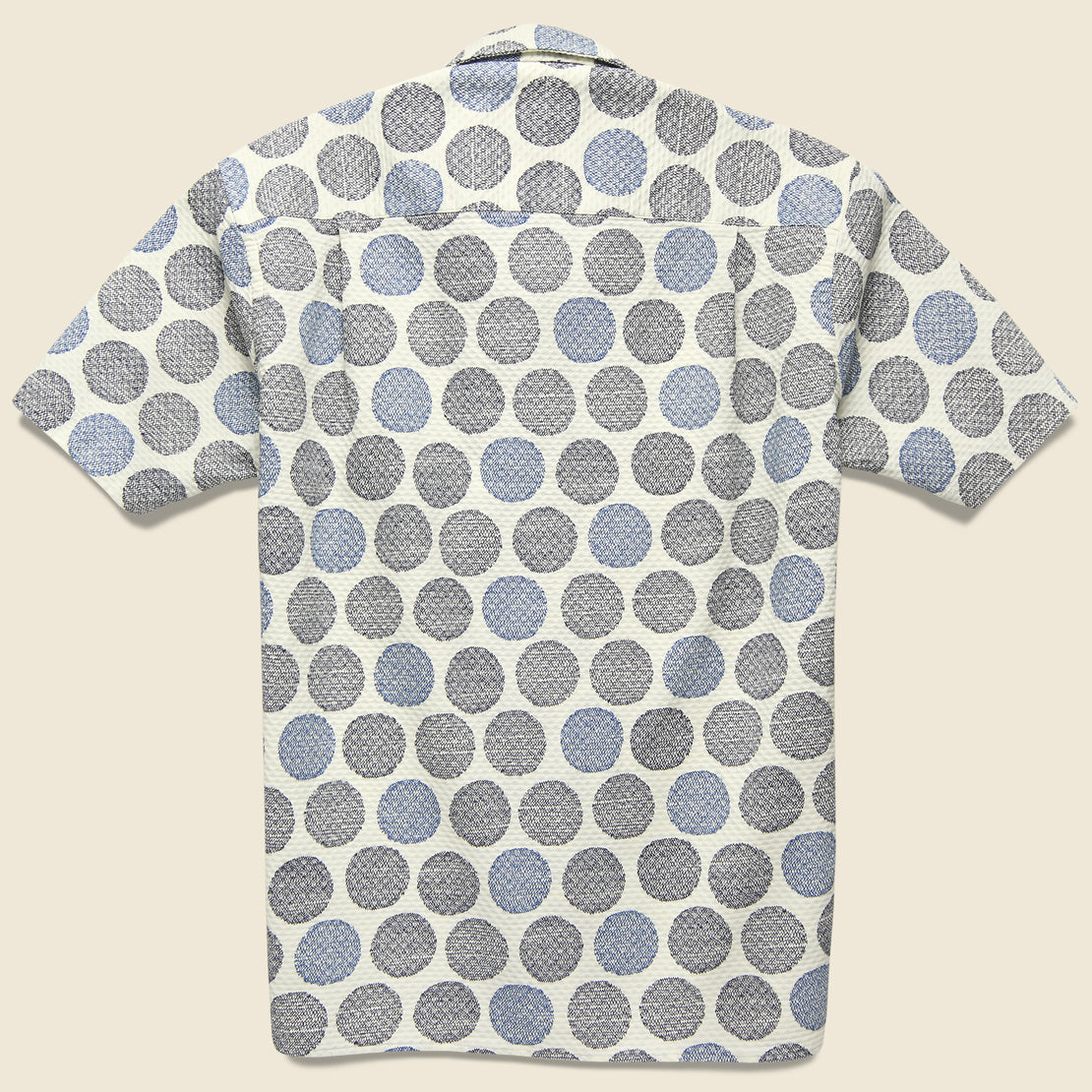 Zig Zag Dot Shirt - White/Blue