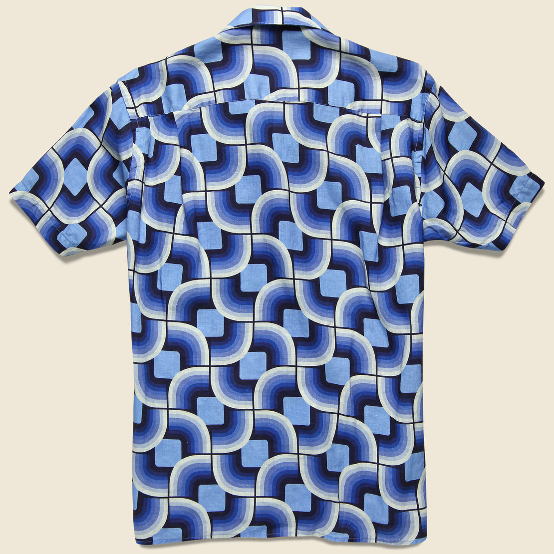 Gio Ponti Linen Camp Shirt - Blues