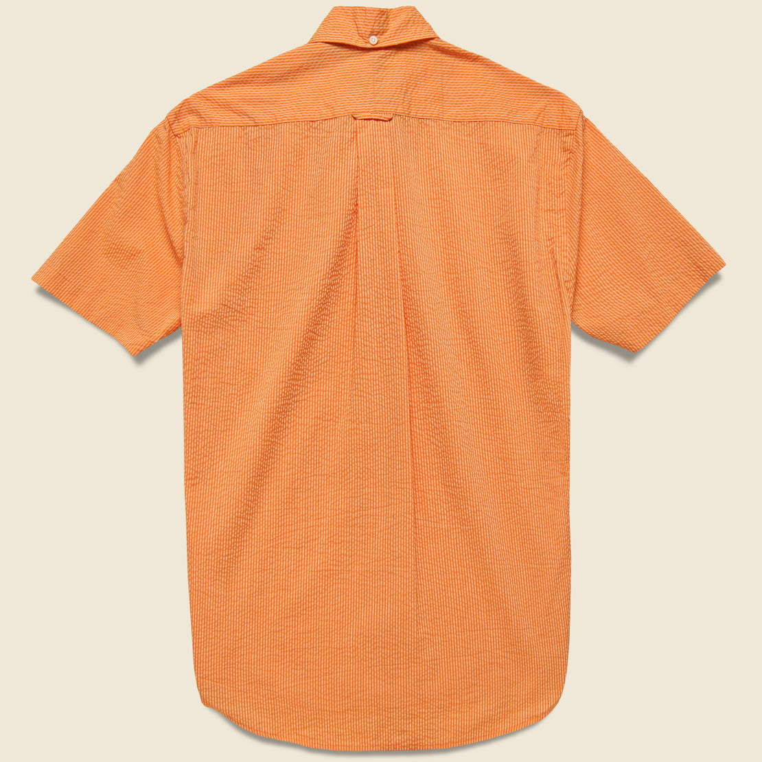 Neon Stripe Seersucker Oxford Shirt - Orange