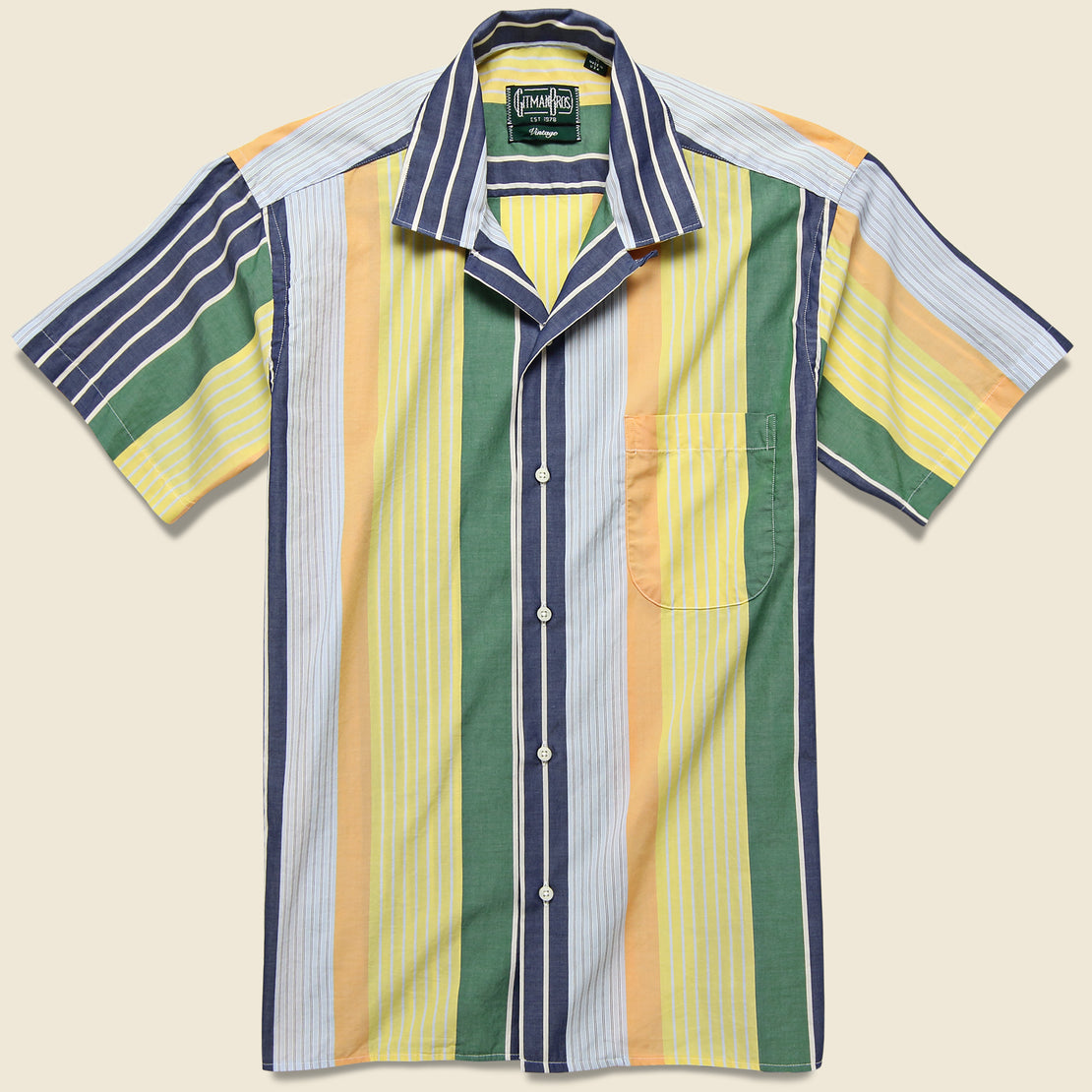 Gitman Vintage Awning Stripe Camp Shirt - Multi