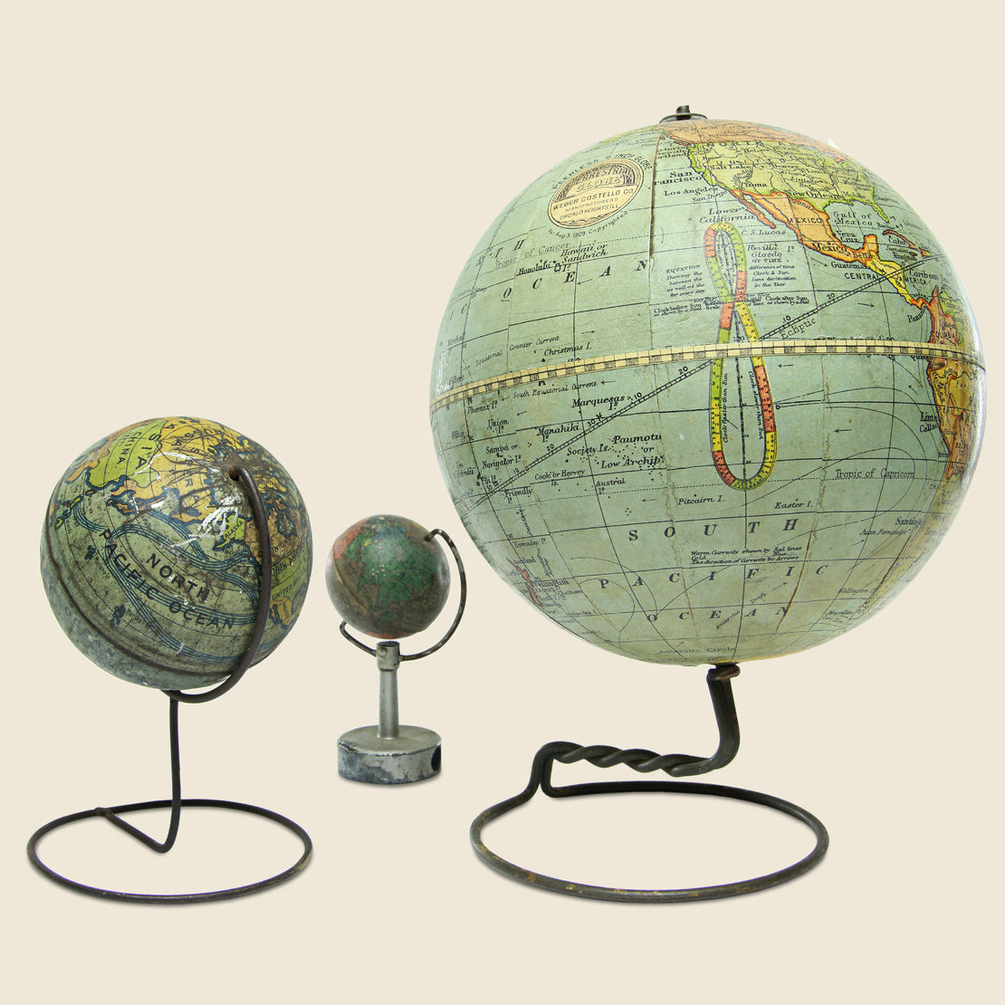 Vintage Globe Set - Vintage - STAG Provisions - Gift - Miscellaneous