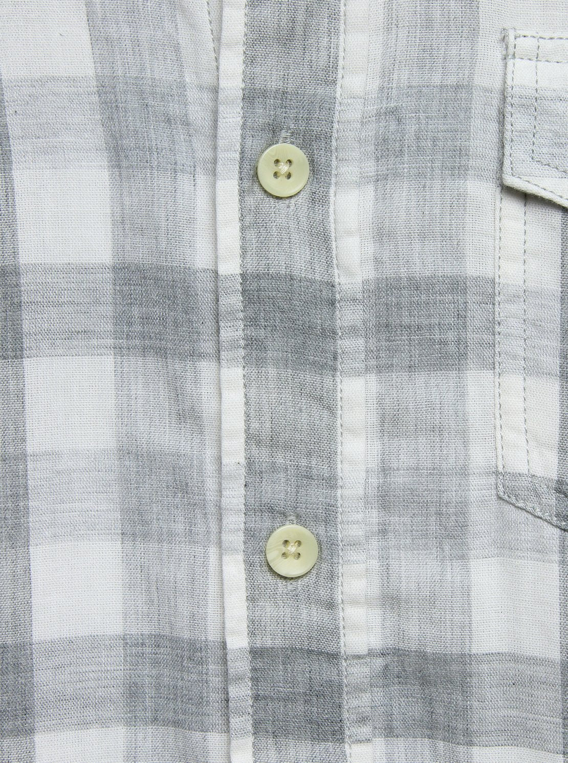 Durham Gingham Double Cloth Shirt - Heather Grey