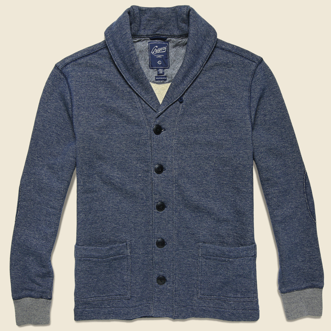 Grayers Birch Shawl Cardigan - Denim Blue