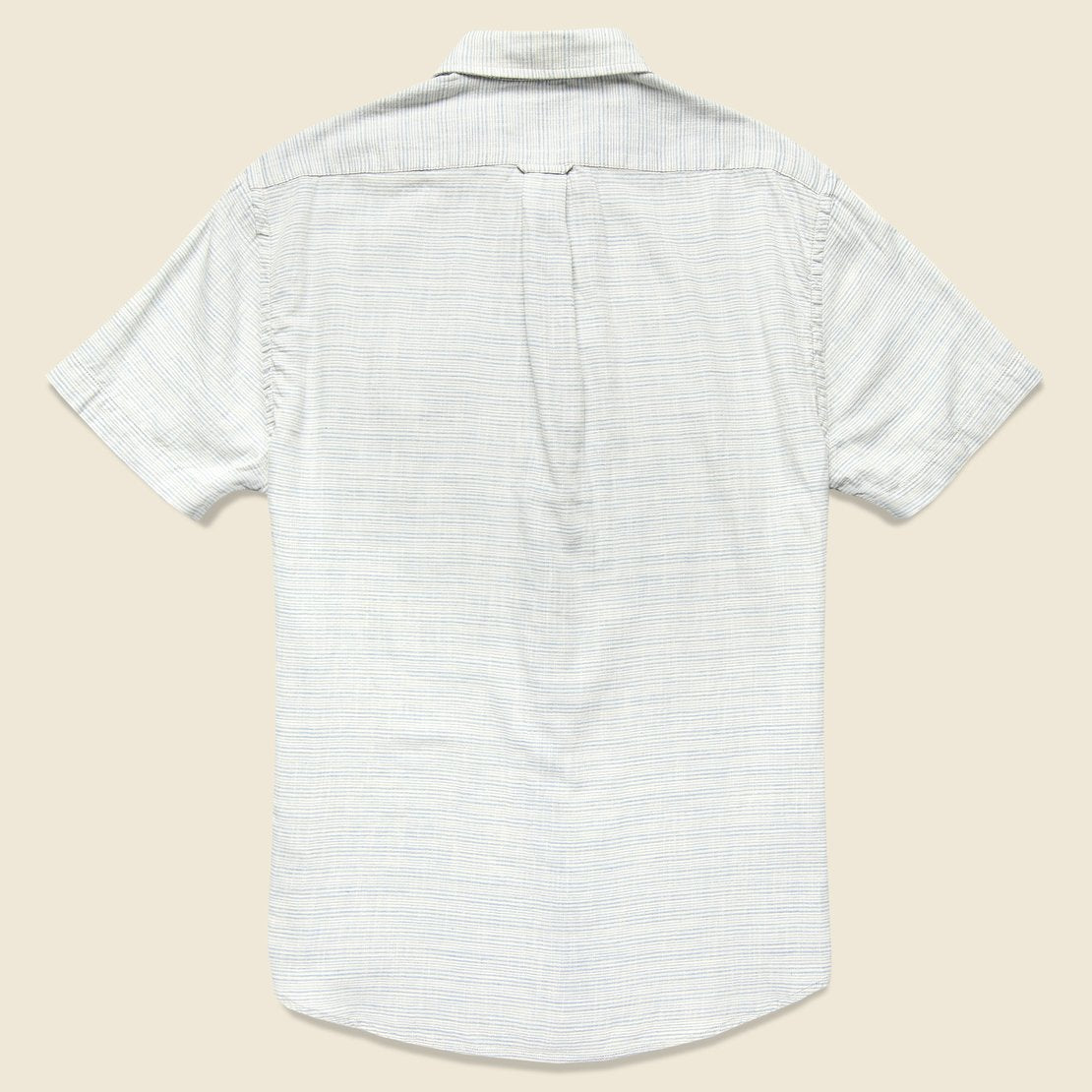 Horizon Summer Twill Shirt - Blue Cream Stripe