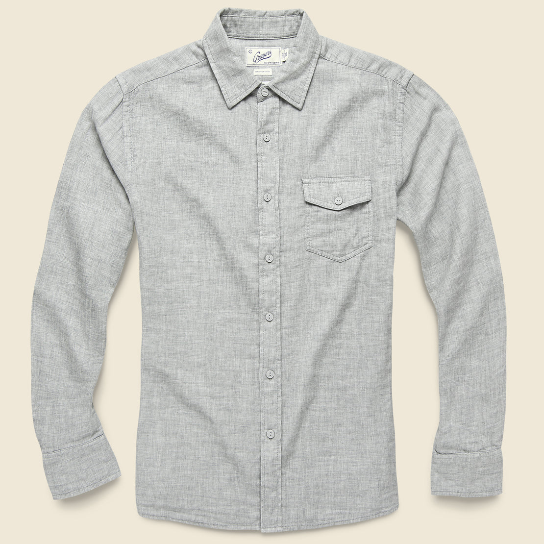 Grayers Hartford Double Cloth Shirt - Charcoal Heather