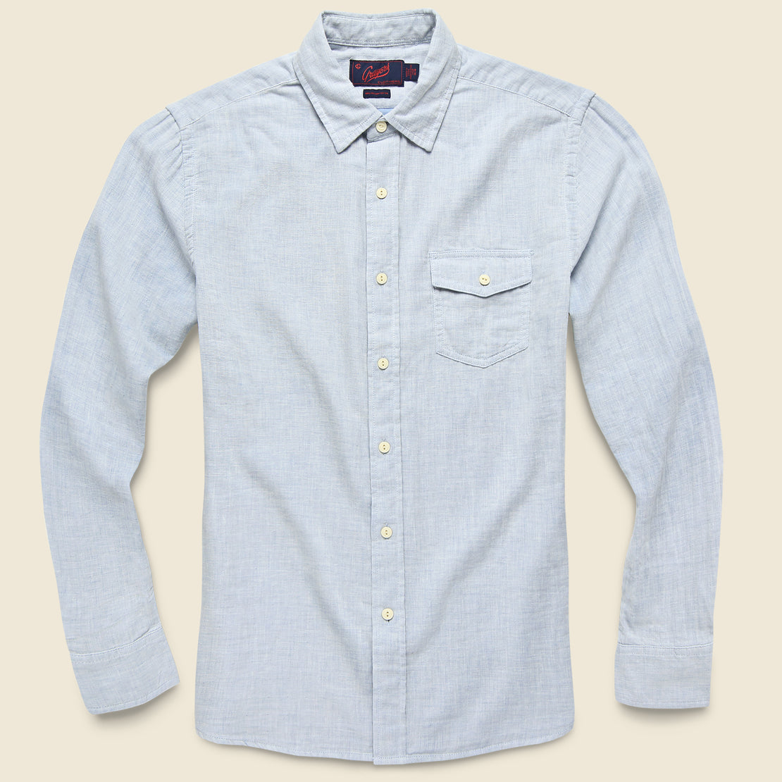 Grayers Hammond Double Cloth Shirt - Blue Heather
