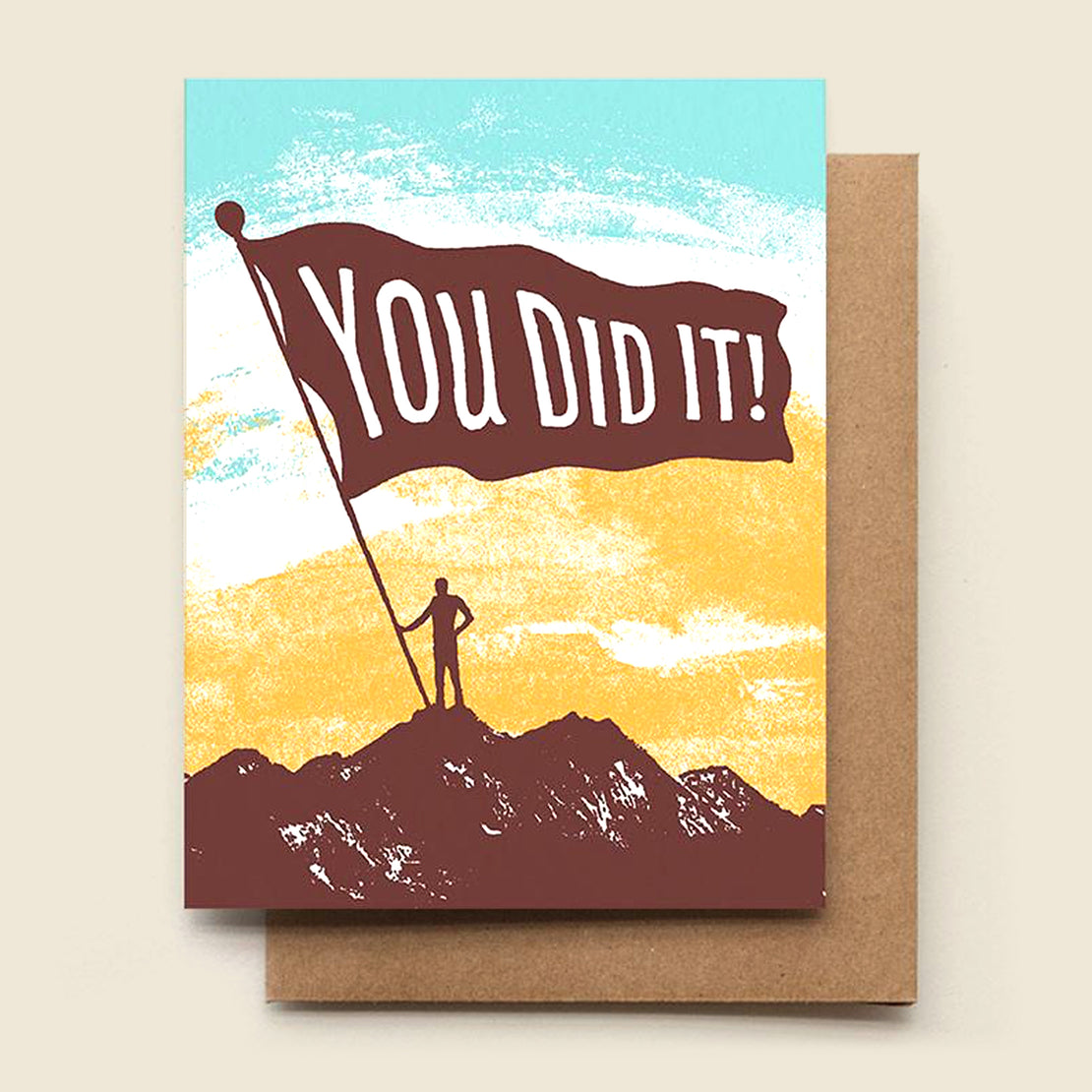 Paper Goods Congratulations Card - You Did It!