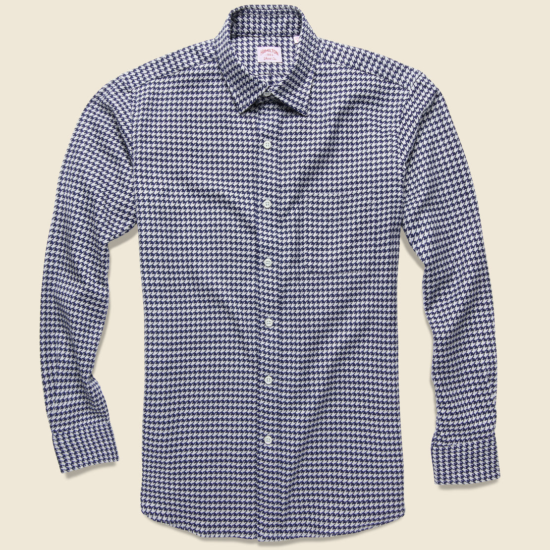 Hamilton Shirt Co. Houndstooth Shirt - Grey/Navy