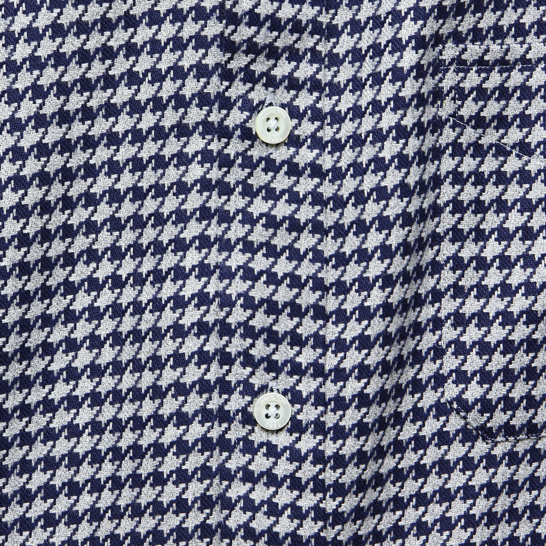 Houndstooth Shirt - Grey/Navy