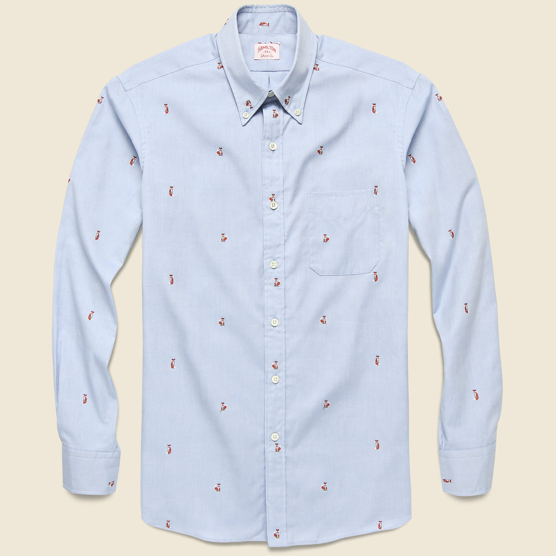 Hamilton Shirt Co. Fox Fil Coupé Oxford Shirt - Blue