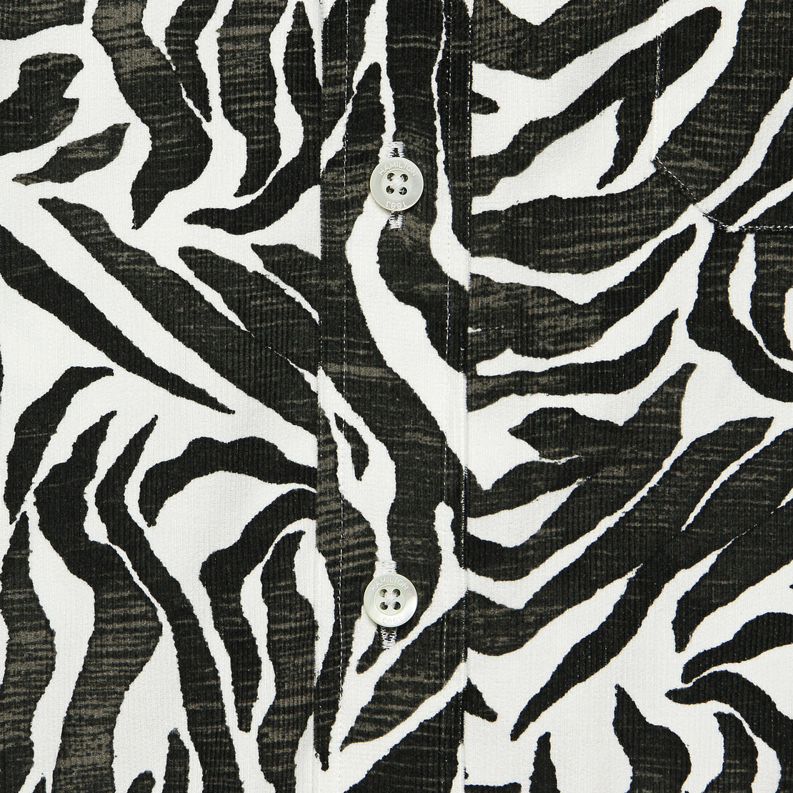 Zebra Corduroy Shirt - Black/White