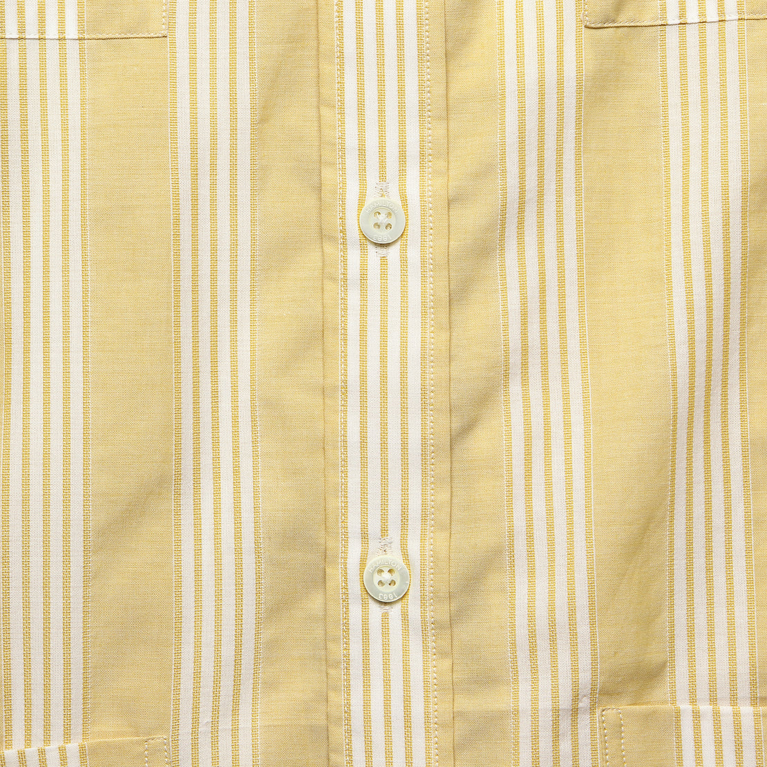 Textured Stripe Guayabera Shirt - Dusty Marigold/White