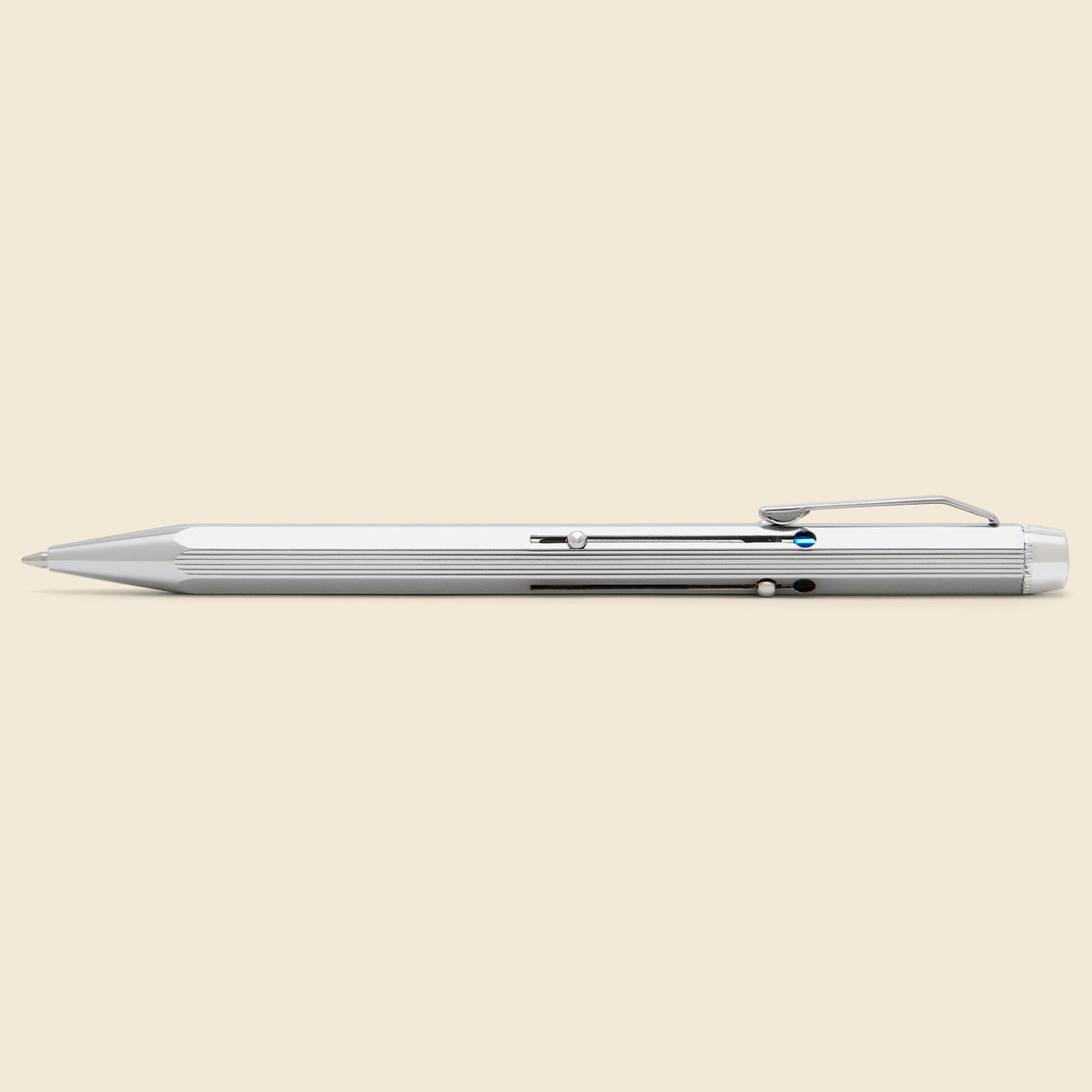Paper Goods 4-Color Ballpoint Pen - Silver